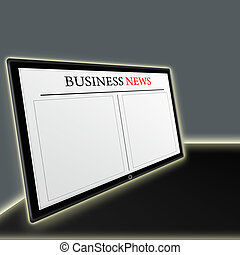 business news on tablet pc