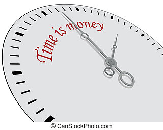 Time is money written on a watch