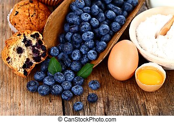 Blueberry cake  - Muffins with blueberry