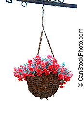 flower basket - hanging flower basket