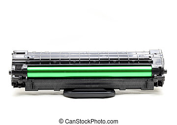 printer cartridge - new laser printer cartridge isolated on...