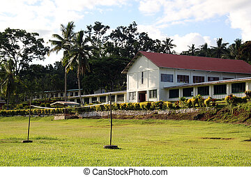 School - Religion school and sport field in Fiji