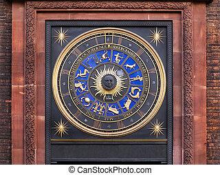 zodíaco, reloj