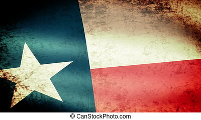 Texas State Flag Waving, grunge look