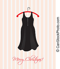 Christmas card with a special black dress