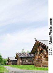 The old wooden house - Old wooden house in north Russia....