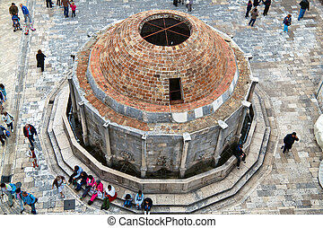 croatia, dubrovnik, onofrio's fountain - the city of...