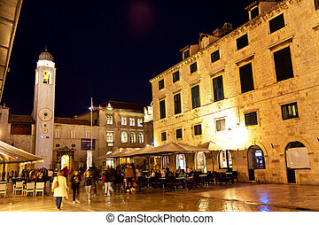 croatia, dubrovnik, stradun - the city of dubrovnik in...