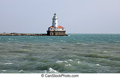 Lighthouse in bad weather