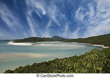 Colors of Whitehaven Beach, Australia - Sky Colors of...