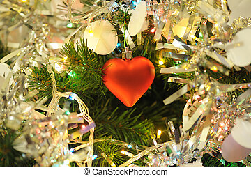 Christmas background - background of inside decorated...