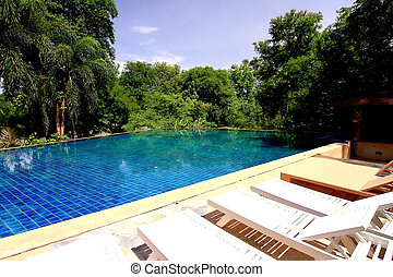 Swimming pool of luxury home  - Swimming pool of luxury home