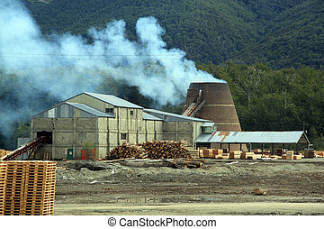 Sawmill - Mount and sawmill in Terra del Fuego, Argentina