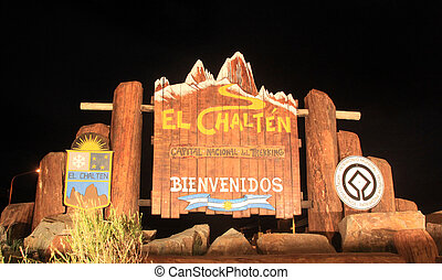 El Chalten at night - UNESCO world heritage area near El...