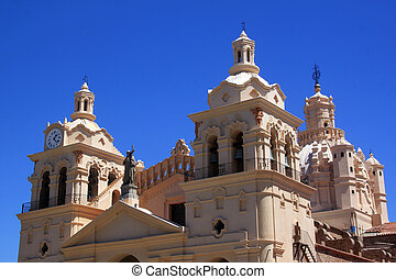 Cathedral - Top of cathedral in center of Cordoba, Argentina