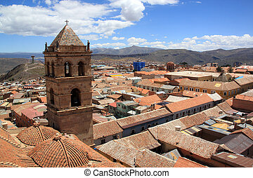 Potosi - View from the top of roof of church San fransisco...