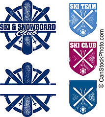 Ski & Snowboard Club Team Stamps - A collection of...