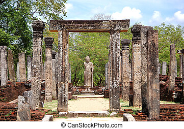 The Polonnaruwa ruins (ancient Sri Lanka's capital)