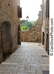Colle di Val dElsa Siena, Tuscany, typical old street