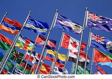 BritishCommonwealth and world flags - The British...