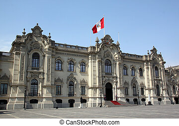 President palace - Facade of president palace in cenyet of...