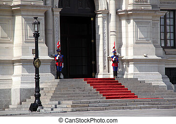 President palace - Entrance of president palace in the...