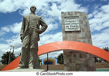 Jose Olmedo - Monument og Jose Olmedo on the square in...