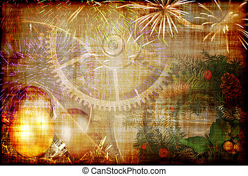 Christmas background - Christmas and New Year background -...