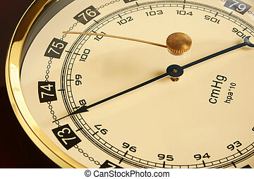 Barometer - Closeup of a barometer, a horizontal picture