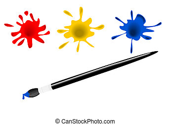 Paint brush - Vector illustration of paint brush