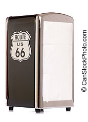 American route 66 napkin holder studio cutout