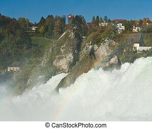 Rhine Falls - Mighty Rhine Falls (Rheinfall) at Schaffhausen...