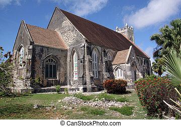 Anglican church - Old stone anglican church in caribean...