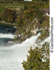Rhine Falls - Mighty Rhine Falls Rheinfall at Schaffhausen...