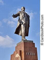 Lenin - Vladimyr Lenin monument in Kharkov. Built in 1963.