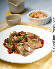 Korean delicacy. - A Korean delicacy consisting of Mook made...