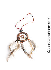 dream catcher - This is a small dream catcher over a white...