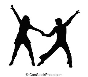 Dancing Couple 70s - Dancing Couple Silhouette in 1970s...