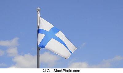 Finnish Flag, Blue Sky