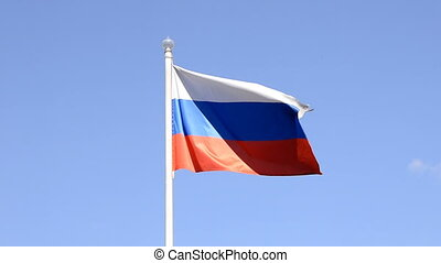 Russian Flag  - Russian Flag, Blue Sky