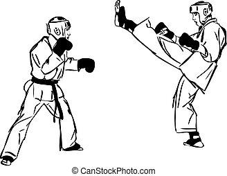 23 Karate Kyokushinkai sketch martial arts and combative...