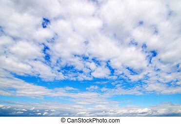 sky  - Blue sky background with tiny clouds