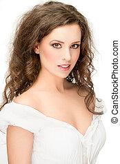 gorgeous brunette posing