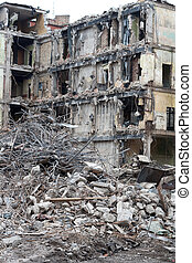 Demolished house before reconstruction or after bomb...