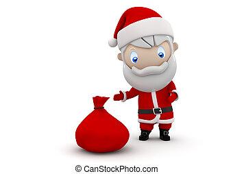 Santa! Social 3D characters