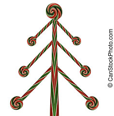 candy cane lollipop christmas tree - abstract candy cane...