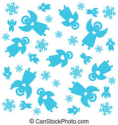 Christmas-pattern - Christmas pattern. Angels and...
