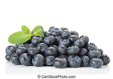Blueberries - Close-up image of blueberries studio isolated...