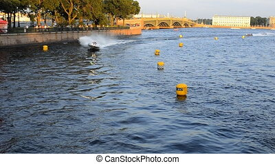 24 hour motor boat race in Saint-Petersburg