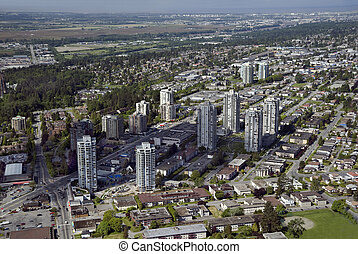 Vancouver Aerial - Burnaby and Richmond